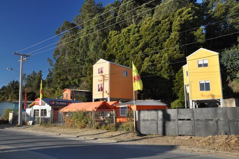 Subventionierte Häuser auf Stelzen
