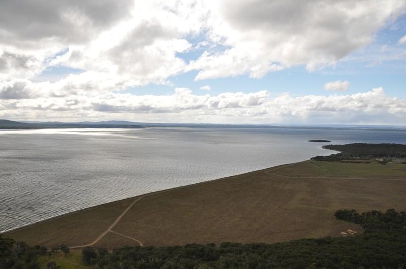 Der Lago Blanco von oben