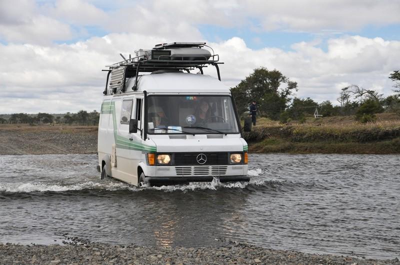 Flussdurchfahrt an der Grenze Bella Vista