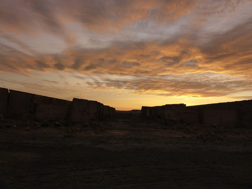 Sonnenuntergang über der Salpeterstadt