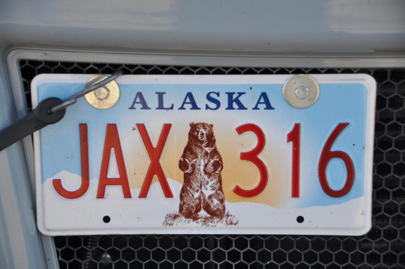 Schöne Nummernschilder gibts in Alaska