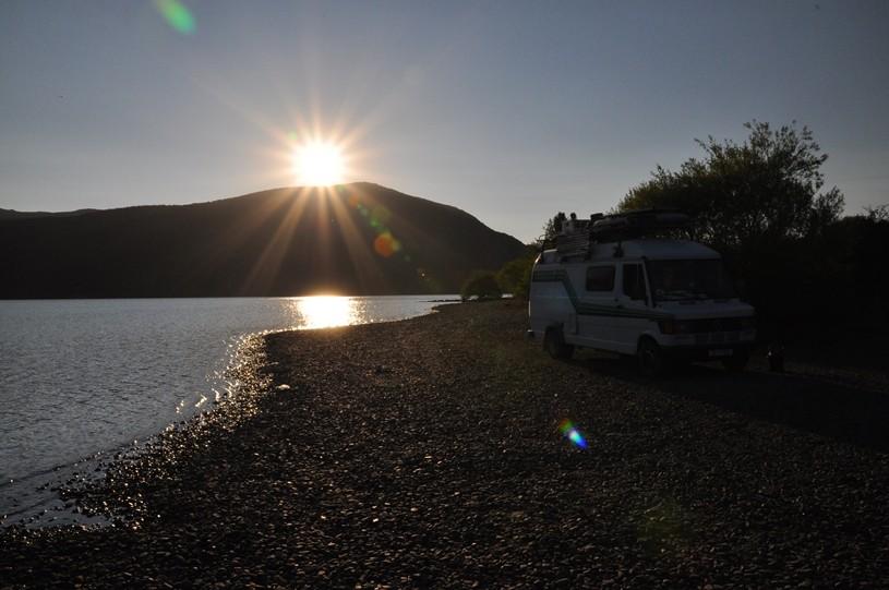 Sonnenuntergang am Lago Lolog