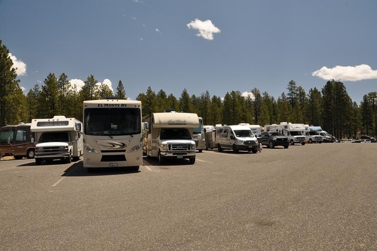 Der RV-Parkplatz im Bryce NP