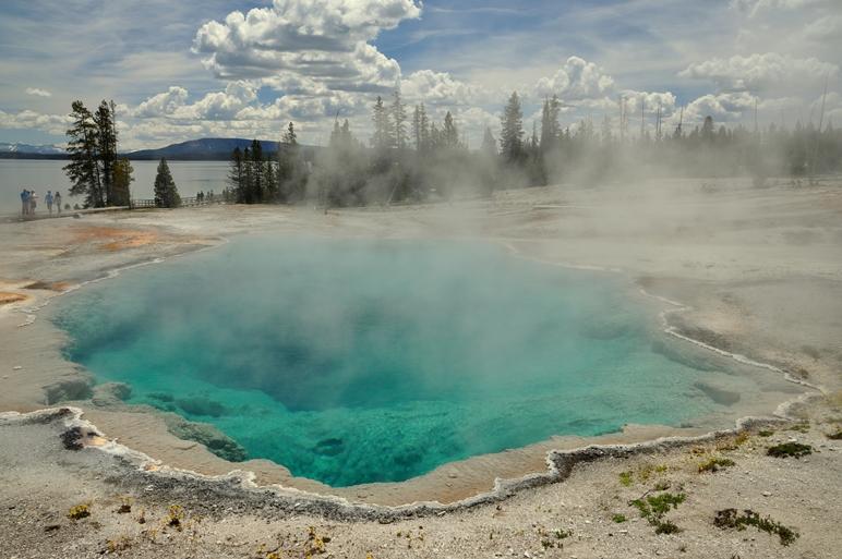 Ein wirklich heisser Pool 70°C!!!