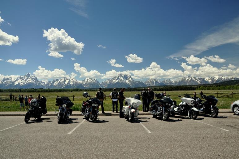 Man könnte meinen es gäbe nur eine Motorradmarke - Harley Davidson