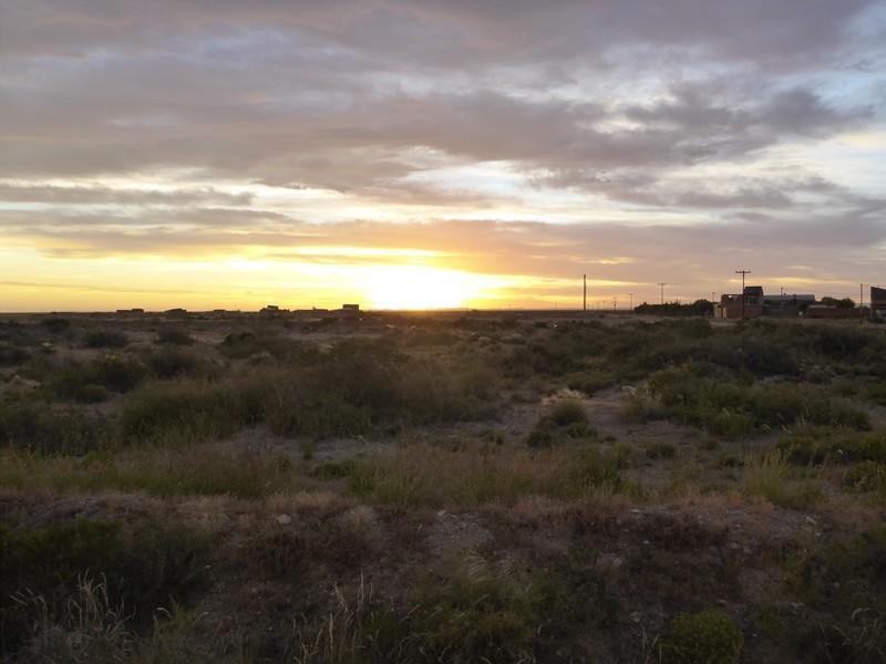 Sonnenuntergang über der Pampa