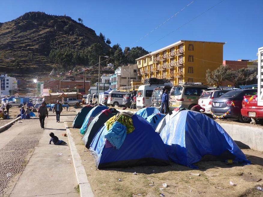 So zelten Bolivianer...