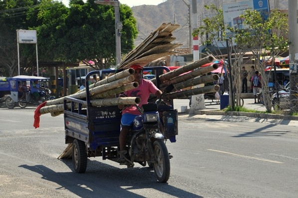 Bambustransport durch Mancora