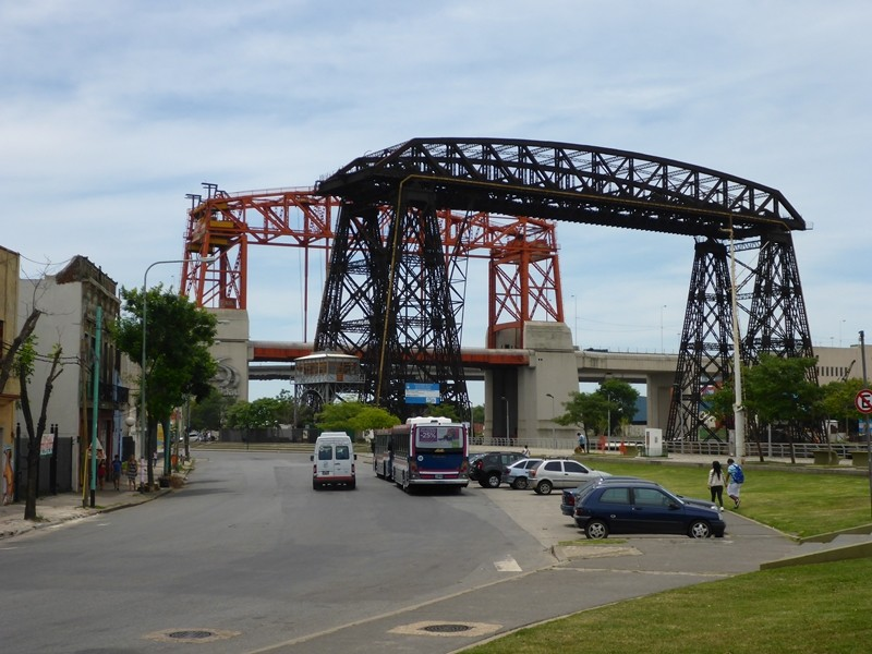 Stahlbürcke bei La Boca