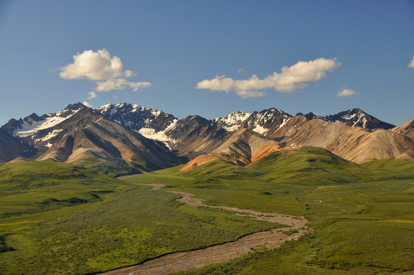Wunderschöne Berglandschaften im Denali