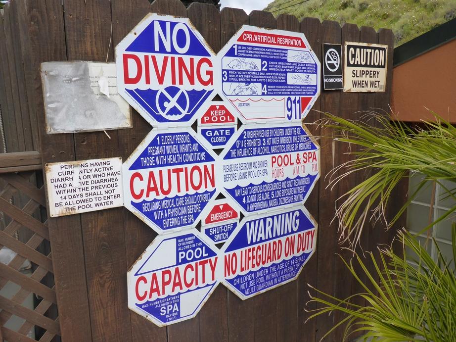 Überall gibt es so viele Regeln und Hinweise