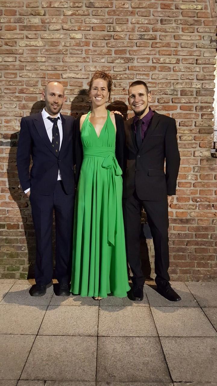 Nathy mit zwei Gentlemen!