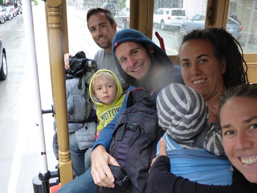 Bei Regenwetter im Cablecar