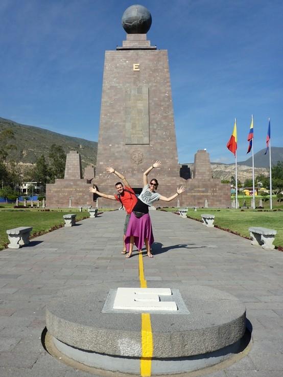 Wir stehen auf dem Äquator