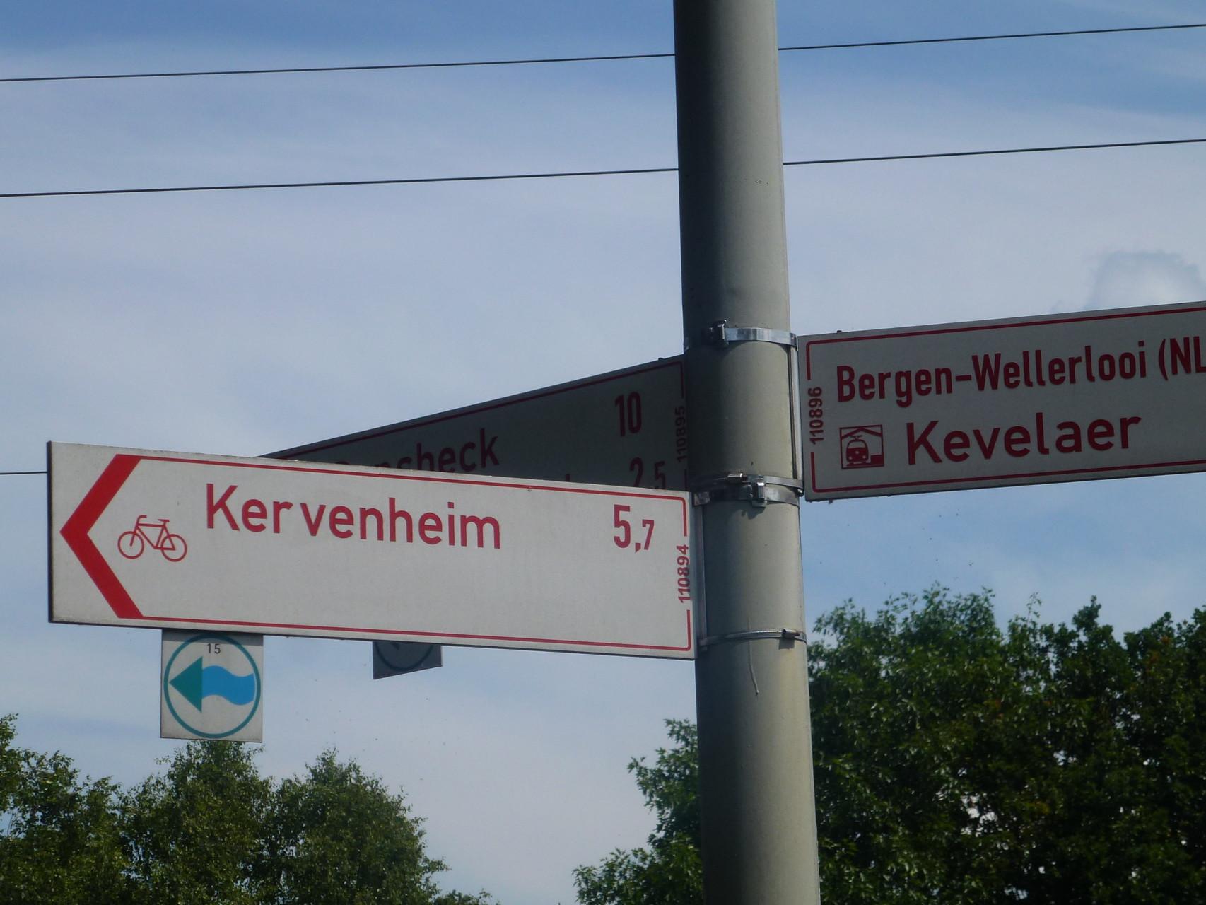 Schravelen Richtung Kervenheim