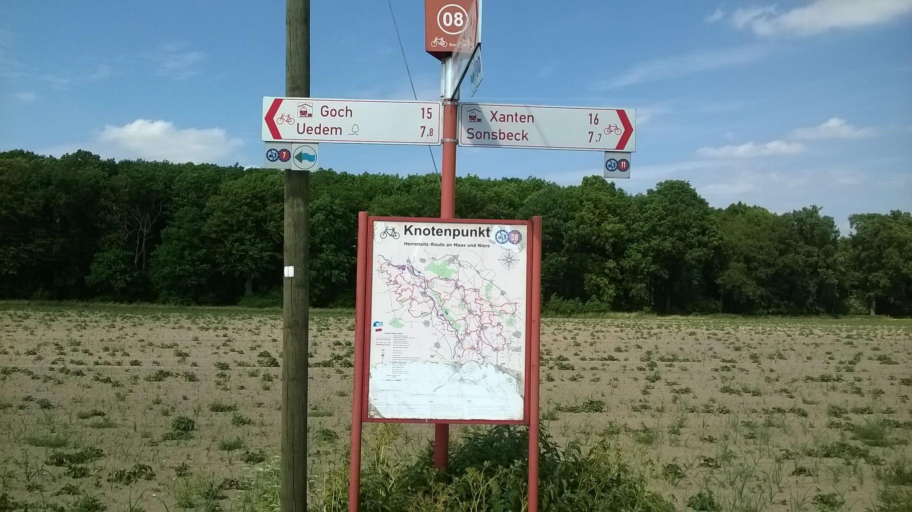 Richtung Uedem -  nicht Xanten