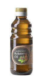 Kaltgepresstes mediterranes Kräuteröl