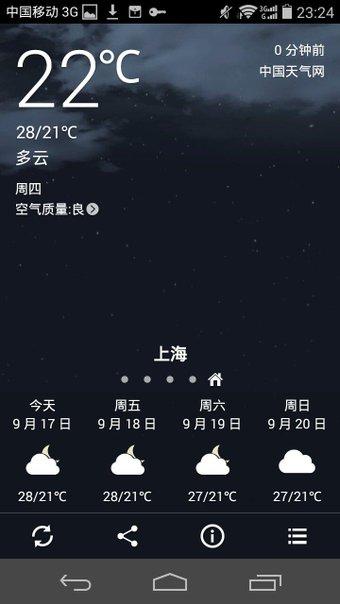 上海。 夜はけっこうすずしくなってきた。