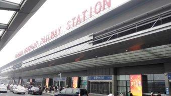 駅です。でかいです。私もいつも空港みたいって思います。