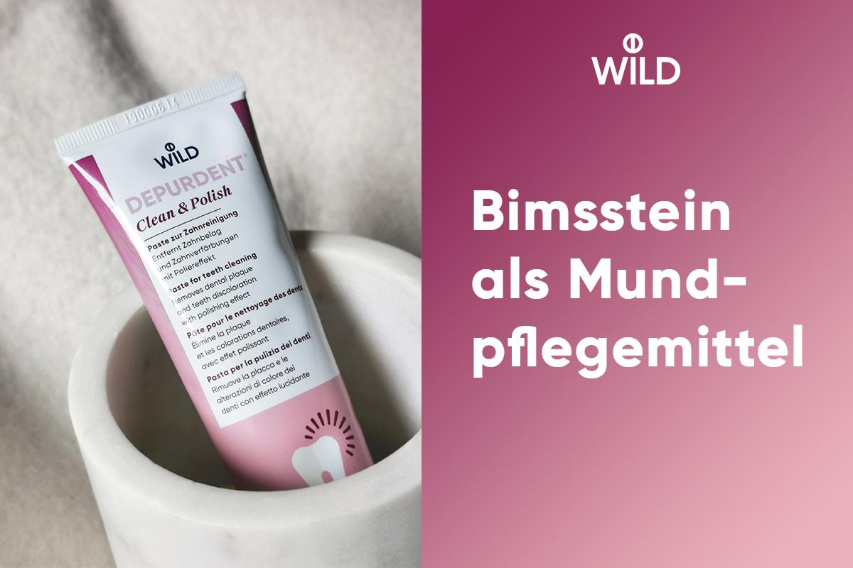 Bimsstein als Mundpflegemittel