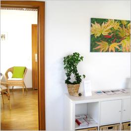 Wartezimmer und Praxis der Psychologin und Psychotherapeutin Viola Wedler