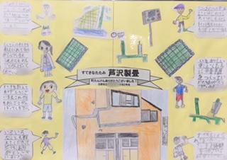 日野市内小学生のまちたんけんお礼の作品