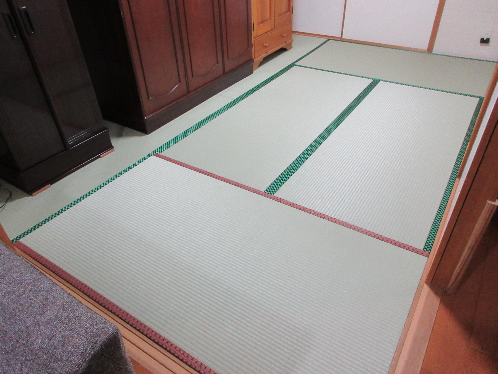 稲城市T様 MIGUSA引目 グリーン2色の縁