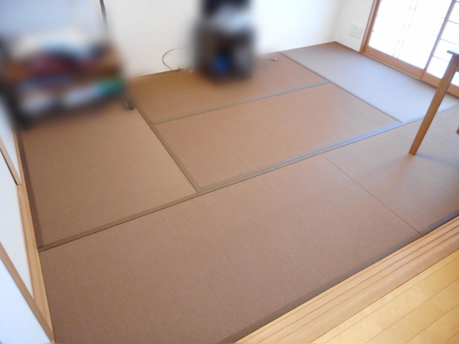 八王子市A様 和紙畳胡桃色の畳にしました!