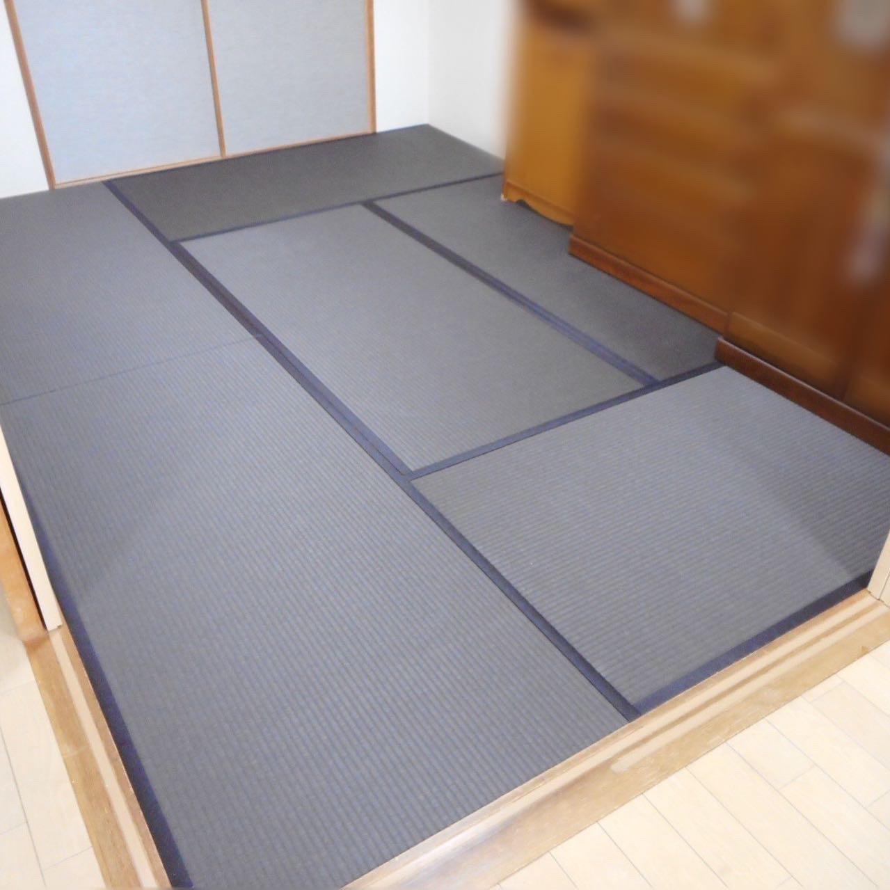 日野市H様 「栗色」の畳おもてと統一感のあるふすま紙でリフォーム!