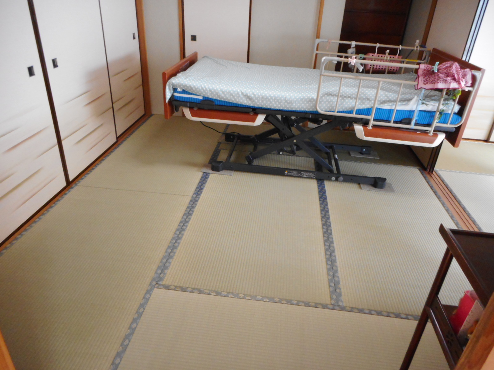 多摩市H様 新畳 上級品と荷重強化畳床