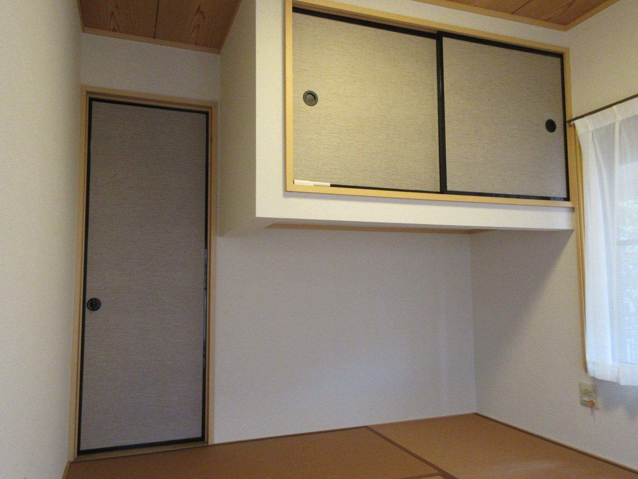 日野市M様 和室 壁紙(クロス)貼替えと襖張替・新畳和紙