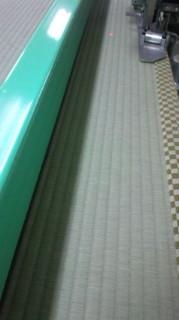 国産(熊本県産)の畳おもて 畳床も新しくする「新畳:しんたたみ」の様子