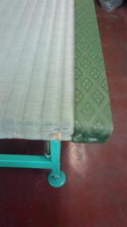 畳作りの作業場の様子