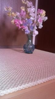 麻のフローリング畳 & スイートピー