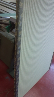 薄い畳も畳表替えします,画像のようにきれいに畳表替え