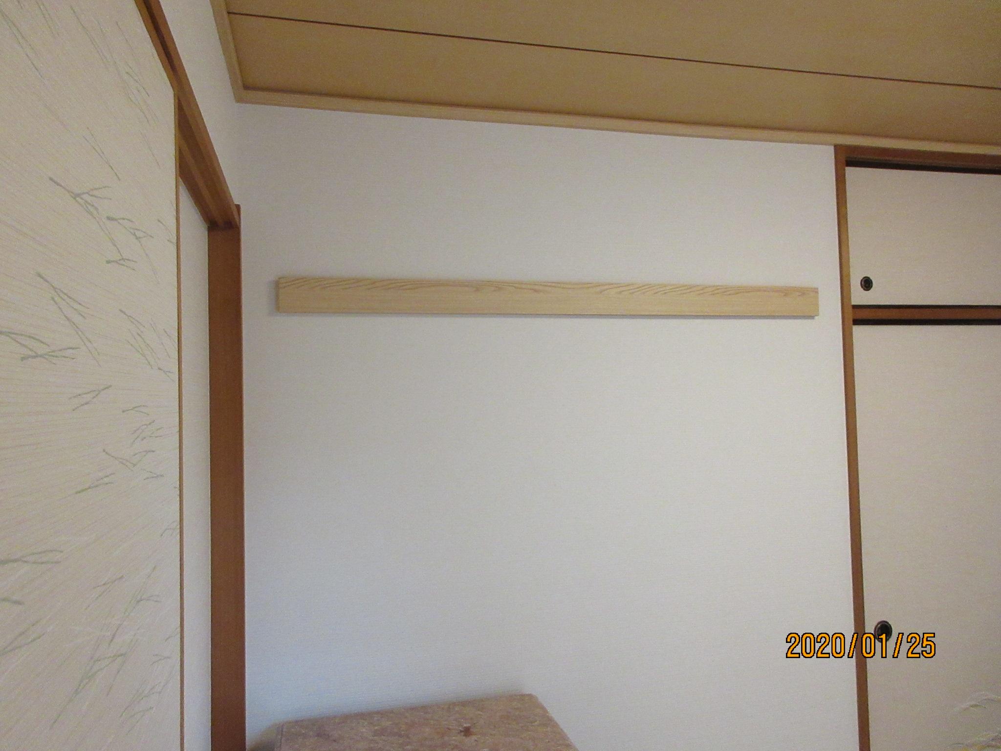 国分寺市K様 和室 壁紙(クロス)貼替えと長押・天井廻り縁ダイノック
