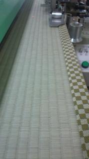 国産畳,熊本県産の上級畳に市松柄の縁を付けて(*^^)v
