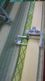 畳屋さんで縫う畳の様子