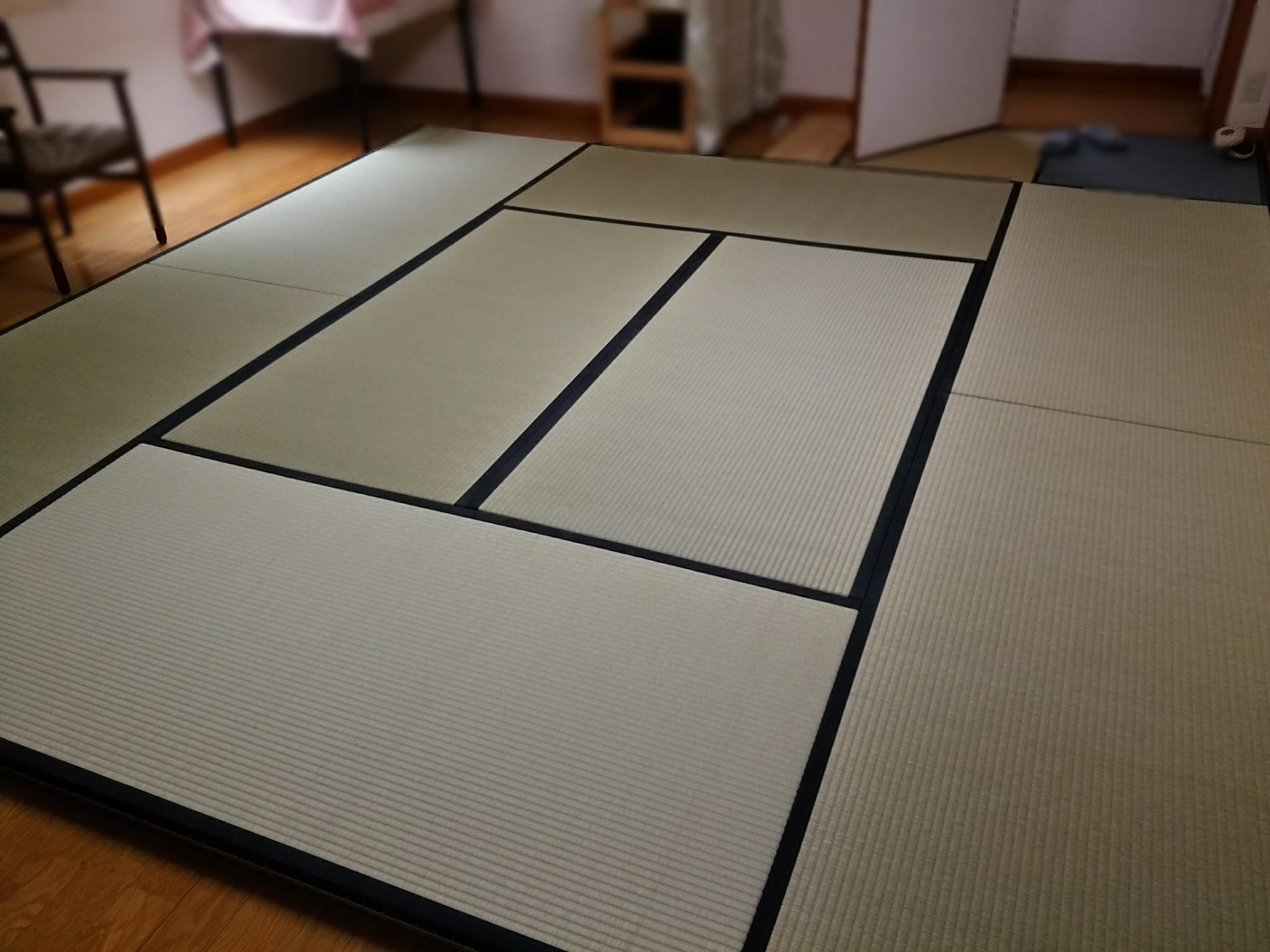 フローリングにお茶室を。。お稽古用の本格的畳もご用意できます!