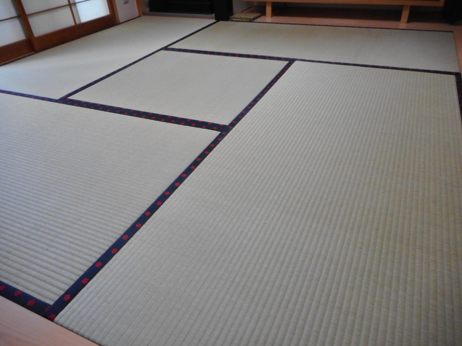 日野市B様 特上畳おもてで表替え素敵な畳縁です