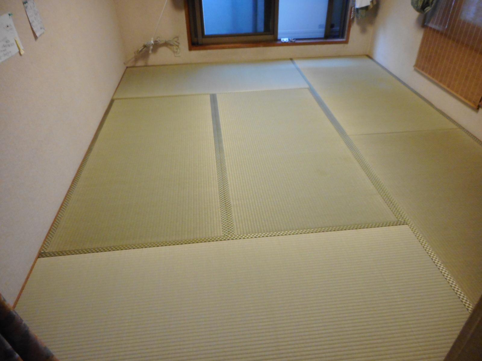 日野市T様新畳 熊本県産の上級畳おもてと素敵な畳縁のご紹介