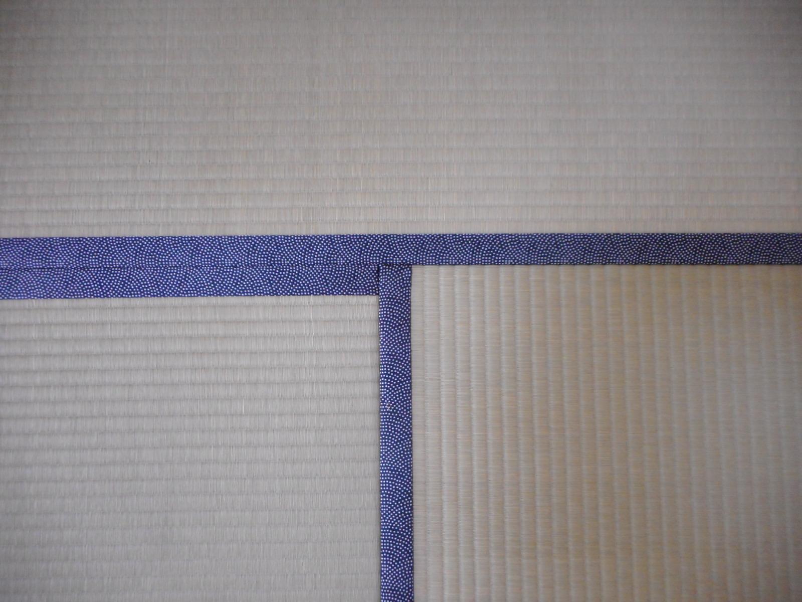 日野市E様、特上畳おもてと素敵な鮫小紋柄の畳縁をご注文下さった時の施工写真