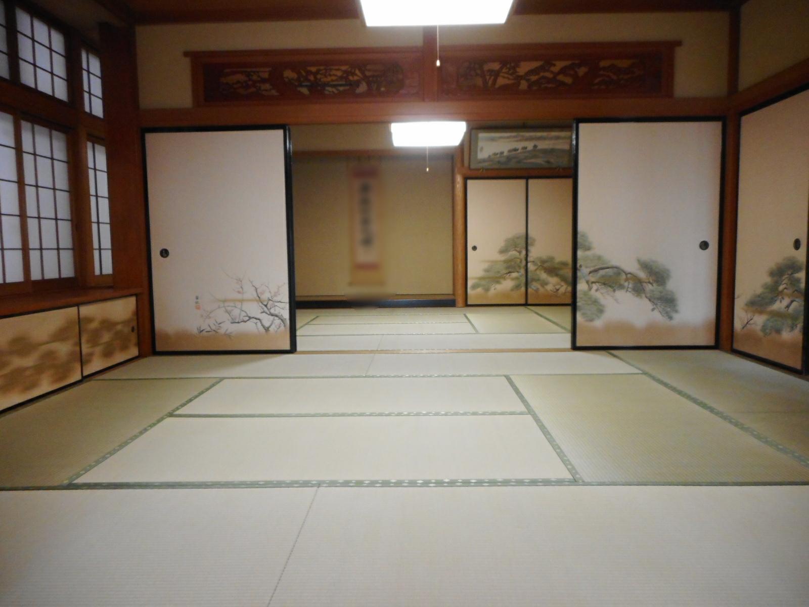 """寺院「庫裏」の畳新調・畳おもては熊本県産""""特上"""""""