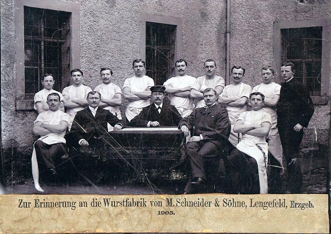 Belegschaft im Jahre 1905