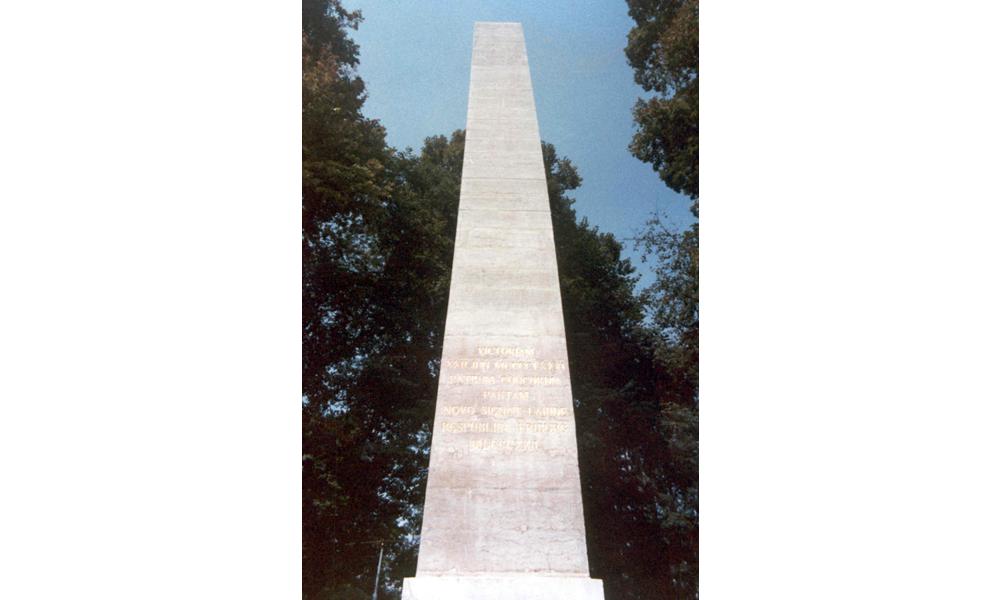 Restaurierung und Reinigung Soldaten-Denkmal Murten - Nachher