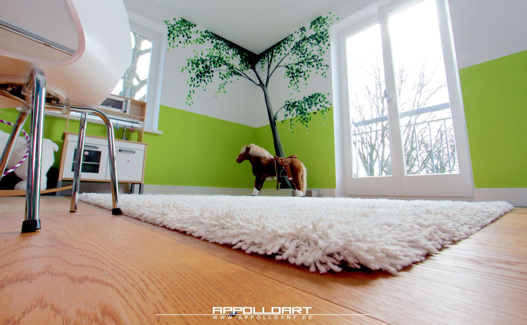 wandmalerei innenraum mit pferde fassadengestaltung. Black Bedroom Furniture Sets. Home Design Ideas