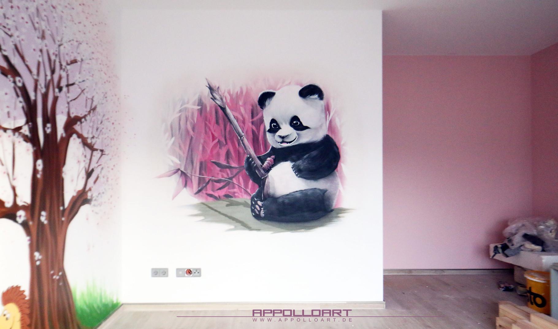 Kinderzimmer Wandgestaltung mit Graffiti - Fassadengestaltung