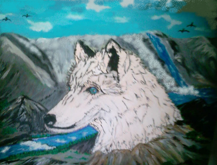 Wolfsfelsen 70 x 50 cm Leinwand