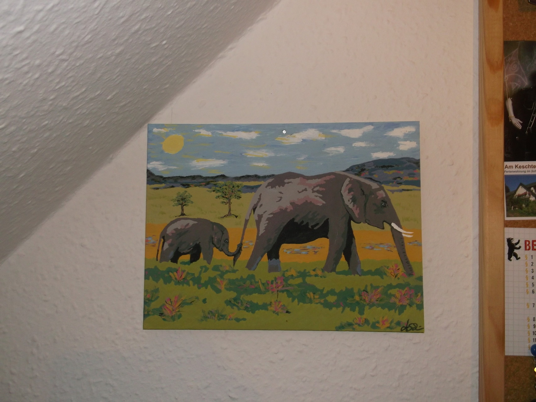Elefantengang (Malpappe) 30 x 20 cm