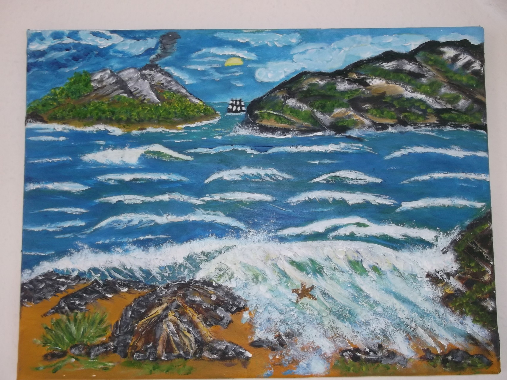 Südseeinseln:  (Leinwand) 45 cm x 35 cm